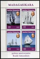 Madagascar 2019 MNH Roald Amundsen 4v M/S Exploration Boats Ships Stamps