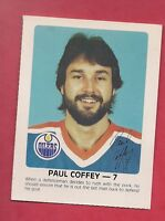RARE 1984-85 OILERS PAUL COFFEY  RED ROOSTER  CARD