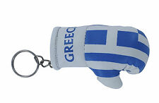 Porte clés Drapeau GRECE grec  Mini gant de boxe clé clefs voiture moto NEUF