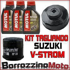 KIT TAGLIANDO 3 LT OLIO MOTUL 5100 + FILTRO OLIO + CHIAVE SUZUKI V-STROM 650