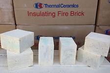 """K-20 Insulating Firebrick IFB 4.5"""" x 4.5"""" x 2.0"""" Thermal Ceramics Fire Brick K20"""
