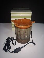 New SCENTSY WARMER Full Size PLYMOUTH Maple Leaf Thanksgiving Fall Theme RETIRED