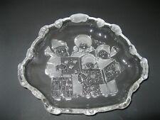 Home Beautiful Festive Song Christmas Carolers Themed Sweet Dish Bowl Crystal