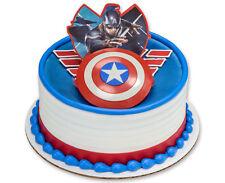 "3D Cake Topper ~ Captain America ""The Winter Soldier"" w/Shield & Color Graphics"