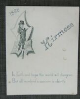 1886 Kirmess Restaurant Menu, New York