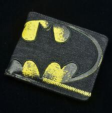 DC Comics Batman Leather Wallet Fashion Man Two-Fold Cartoon Purse New