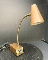 Vtg Mid Century TENSOR #7200 Small Atomic Cone Desk Lamp Light Gooseneck MCM