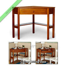 Corner Writing Desk Laptop Computer Table Home Office Small Wood Desks, Cherry