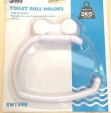 New White SUCTION Toilet Roll Holder HOLDERS BATH ROOM