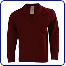 "New Good Quality Mens Womens Adult V-Neck Knitted Pullover Jumpers Size 40""- 46"""