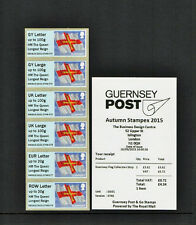 GUERNSEY FLAG LONGEST REIGN OVPT 2015 AUTUMN STAMPEX POST & GO COLL STRIP GG01