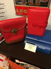 Vintage Dooney And Bourke Red Bag And Planner EUC