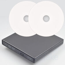External Blu-ray Burner DVD CD BD RW USB Optical Drive Two BD-R 25GB Blank Disc