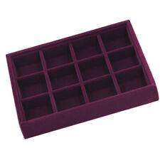 Store Showcase Velvet Jewelry Display Tray Box Drawer Insert Organizer - 12 Grid