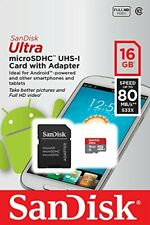 16GB Micro SD SDHC Memory Card Class 10 4K HD High Speed with SD TF Card Adapter