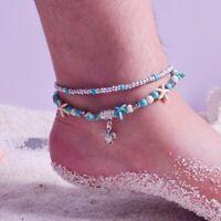 Boho Turquoise Beach Sea Beads Ankle Starfish 1pc Bracelet Sandal Anklet Turtle