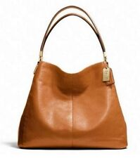 NWT Coach Madison Leather Small Phoebe Shoulder Bag Li Gold Orange Spice F26224