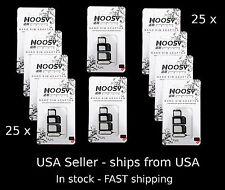Bulk Lot 25X - Iphone Samsung Lg Nexus -Noosy Nano Micro Sim Card Adapters Kit