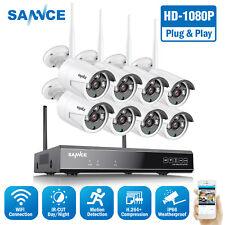 UL-TECH 1080P 8CH Wireless Security Camera - Black