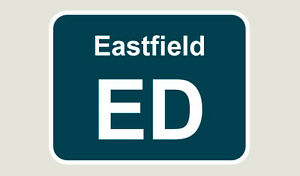 1x Eastfield Train Depot Sticker/Decal 100 x 77mm
