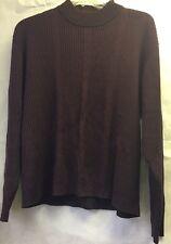 CEZANI Men's Long Sleeve Sweater~ Burgundy Size Large  Rayon/Cotton  Blend   U