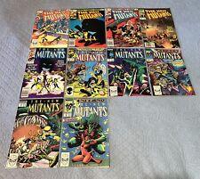 New Mutants #2-4, 22,49,59,67,69,70,72 VF+ (1983-9) comic book lot x10