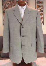 Canali Mens Gray Plaid 3 Btn 2 Vent Blazer Sport Coat Sz 44 R