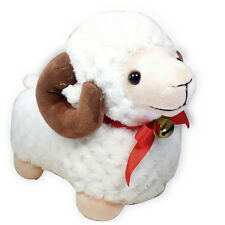 "6"" White Baby Ram Bighorn Sheep Stuffed Animal Soft Plush Toy Suction Cup New"