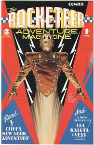 ROCKETEER ADVENTURE MAGAZINE (Comico) 1 and 2 -  Near Mint - Dave Stevens