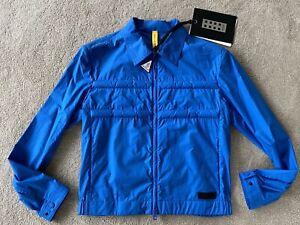 """Moncler Craig Green Bomber Jacket Coat Doodle Blue Sz 2 38-40"""" Medium New"""