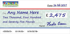 GIANT PERSONALISED COMPANY Large CHEQUE for Charity / Presentation
