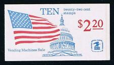 US BK145 (1985) Flag Issue - #1 Scored (4-1/4) Complete Booklet