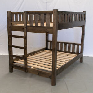 Rustic Farmhouse Bunk Bed - Queen/Queen / Wood Reclaimed Bunk Bed / Modern /