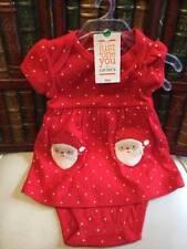 Carters Santa Baby Girl Dress 6 Months Red White Polka Dots Christmas Gift