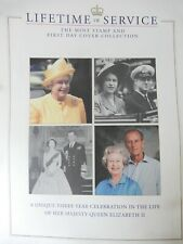 QUEEN LIFE TIME SERVICE AWARD COIN & STAMP COLLECTION BOOK ENGLAND