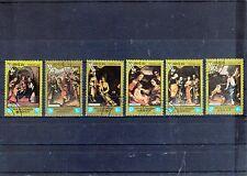 LAOS 1984 lot de 6 timbres tableaux du CORREGE