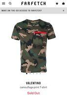 100% Authentic  Size S Valentino Garavani AW 17 Camo T-Shirt $695 Retail Gucci