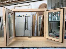 Finestra in legno lamellare grezzo cm L 100 x 100 battente,levigata,doppio vetro