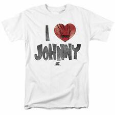 Johnny Bravo I Heart Johnny T Shirt Mens Licensed Cartoon Merch Whoa Mama! White