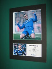 EDEN HAZARD CHELSEA  A4 PHOTO MOUNT SIGNED PRE-PRINTED DIEGO COSTA JOHN TERRY