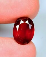 5.0Ct Natural Reddish Hessonite Garnet Oval Cut Cabochon Ring Size Gemstone A313