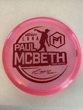 DISCRAFT 2021 TOUR SERIES PAUL MCBETH METALIC Z LUNA PUTTER 173-174g