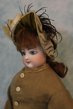 "Antique 17"" French Bisque FG Fashion doll Francios Gaultier w/ Beautiful Dress"