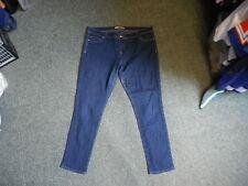 "Denim Co Skinny Jeans Size 18 Leg 28"" Faded Dark Blue Ladies Jeans"