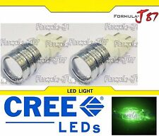 CREE LED Light 5W 3157 Green Two Bulbs Front Rear Turn Signal Parking Drive Side