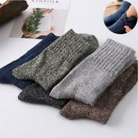 Solid Soft Sports Casual Warm Men New Cashmere Socks 5 Pairs Winter Thick Wool