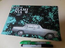 LANCIA FLAMINIA BERLINA 2.8 German English French Italian Brochure 1963/10