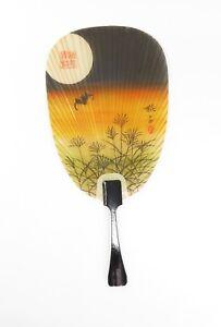 """Japanese traditional paper fan """"Mizu Uchiwa - Twilight"""""""