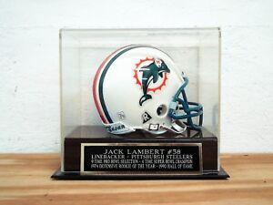 Jack Lambert Football Mini Helmet Display Case With A Steelers Nameplate
