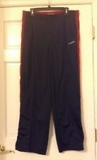 "HOLLISTER SIZE LARGE RED BLUE TRACK PANTS  100% POLYESTER  29"" INSEAM"